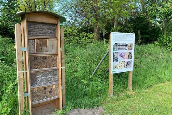 Das Insektenhotel am Naturlehrpfad in Meldorf