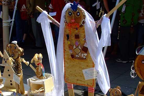 Eine lustige Figur, entstanden beim Kinder Ferienprogramm in Meldorf